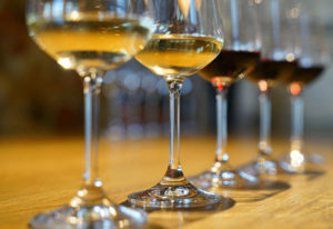 dégustation vins blanc et rouge