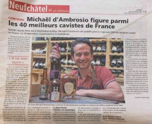 Le Vignoble parmi les 40 meilleurs cavistes de France 2020